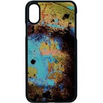 Blue Options 5 Apple iPhone X Seamless Case (Black) Front