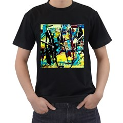 Dance Of Oil Towers 3 Men s T Shirt (black) (two Sided) by bestdesignintheworld