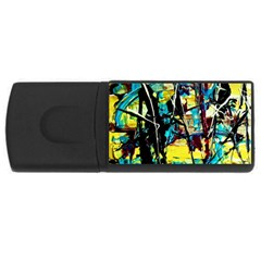 Dance Of Oil Towers 3 Rectangular Usb Flash Drive by bestdesignintheworld