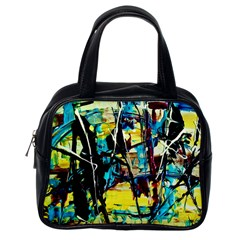 Dance Of Oil Towers 3 Classic Handbags (one Side) by bestdesignintheworld