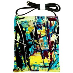 Dance Of Oil Towers 3 Shoulder Sling Bags by bestdesignintheworld