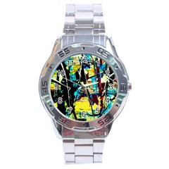 Dance Of Oil Towers 3 Stainless Steel Analogue Watch by bestdesignintheworld