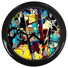 Dance Of Oil Towers 4 Wall Clocks (black) by bestdesignintheworld