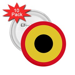 Roundel Of Belgian Air Force 2 25  Buttons (10 Pack)  by abbeyz71