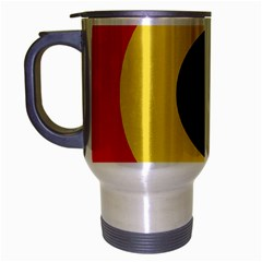 Roundel Of Belgian Air Force Travel Mug (silver Gray) by abbeyz71