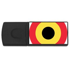 Roundel Of Belgian Air Force Rectangular Usb Flash Drive by abbeyz71