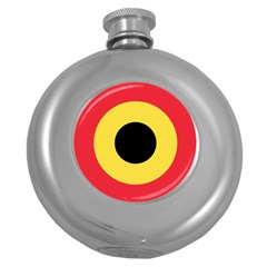 Roundel Of Belgian Air Force Round Hip Flask (5 Oz) by abbeyz71