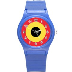 Roundel Of Belgian Air Force Round Plastic Sport Watch (s) by abbeyz71