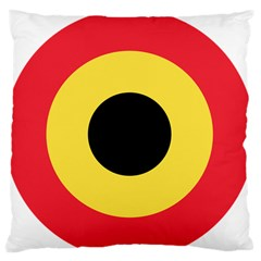 Roundel Of Belgian Air Force Large Flano Cushion Case (one Side) by abbeyz71