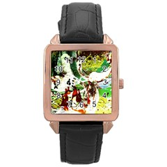 Doves Matchmaking 12 Rose Gold Leather Watch  by bestdesignintheworld