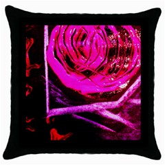 Calligraphy 2 Throw Pillow Case (black) by bestdesignintheworld