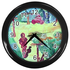 Trail 1 Wall Clocks (black) by bestdesignintheworld