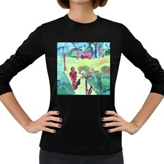 Trail 1 Women s Long Sleeve Dark T-shirts by bestdesignintheworld