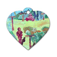 Trail 1 Dog Tag Heart (one Side) by bestdesignintheworld