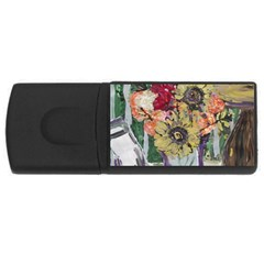 Sunflowers And Lamp Rectangular Usb Flash Drive by bestdesignintheworld