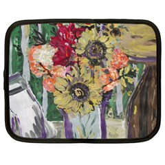 Sunflowers And Lamp Netbook Case (xxl)  by bestdesignintheworld