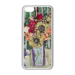 Sunflowers And Lamp Apple Iphone 5c Seamless Case (white) by bestdesignintheworld