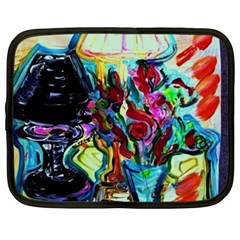 Still Life With Two Lamps Netbook Case (xxl)  by bestdesignintheworld