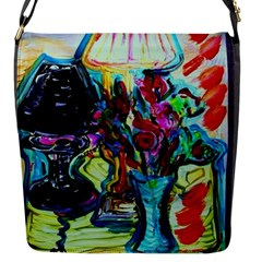 Still Life With Two Lamps Flap Messenger Bag (s) by bestdesignintheworld