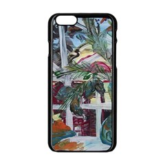 Still Life With Tangerines And Pine Brunch Apple Iphone 6/6s Black Enamel Case