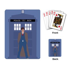 Tenth Doctor And His Tardis Playing Card