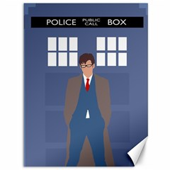 Tenth Doctor And His Tardis Canvas 36  X 48   by Samandel