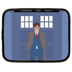 Tenth Doctor And His Tardis Netbook Case (large)