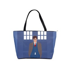 Tenth Doctor And His Tardis Shoulder Handbags