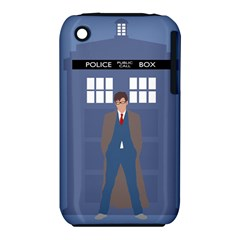 Tenth Doctor And His Tardis Iphone 3s/3gs by Samandel