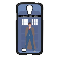 Tenth Doctor And His Tardis Samsung Galaxy S4 I9500/ I9505 Case (black)