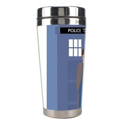 Tenth Doctor And His Tardis Stainless Steel Travel Tumblers