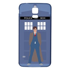 Tenth Doctor And His Tardis Samsung Galaxy S5 Back Case (white)
