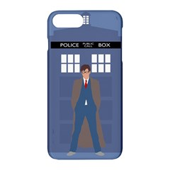 Tenth Doctor And His Tardis Apple Iphone 7 Plus Hardshell Case by Samandel
