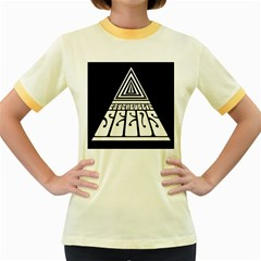 Psychedelic Seeds Logo Women s Fitted Ringer T Shirts