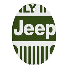 Only In A Jeep Logo Ornament (oval)