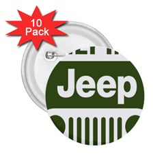 Only In A Jeep Logo 2 25  Buttons (10 Pack)  by Samandel