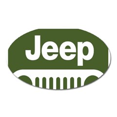 Only In A Jeep Logo Oval Magnet