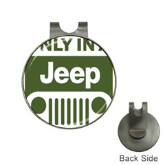 Only In A Jeep Logo Hat Clips With Golf Markers