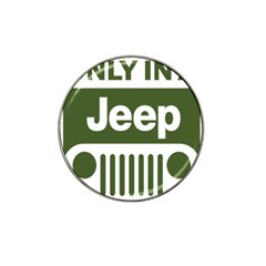 Only In A Jeep Logo Hat Clip Ball Marker