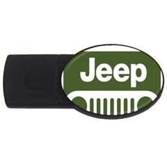 Only In A Jeep Logo Usb Flash Drive Oval (4 Gb)