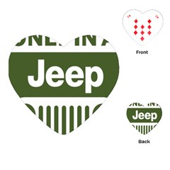 Only In A Jeep Logo Playing Cards (heart)