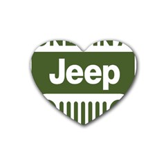 Only In A Jeep Logo Rubber Coaster (heart)