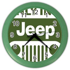 Only In A Jeep Logo Color Wall Clocks
