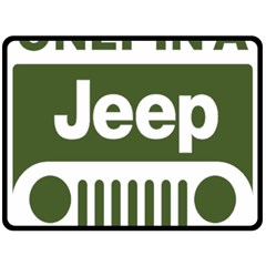 Only In A Jeep Logo Fleece Blanket (large)