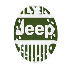Only In A Jeep Logo Ornament (oval Filigree)