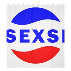 Sexsi Sexy Logo Shower Curtain 66  X 72  (large)  by Samandel