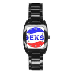 Sexsi Sexy Logo Stainless Steel Barrel Watch by Samandel