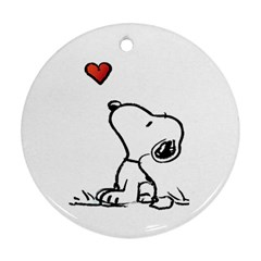 Snoopy Love Ornament (round)