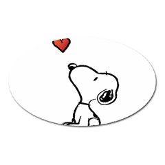 Snoopy Love Oval Magnet