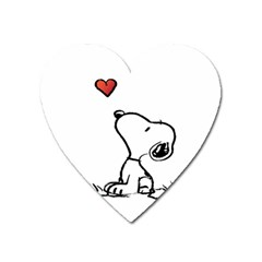 Snoopy Love Heart Magnet by Samandel